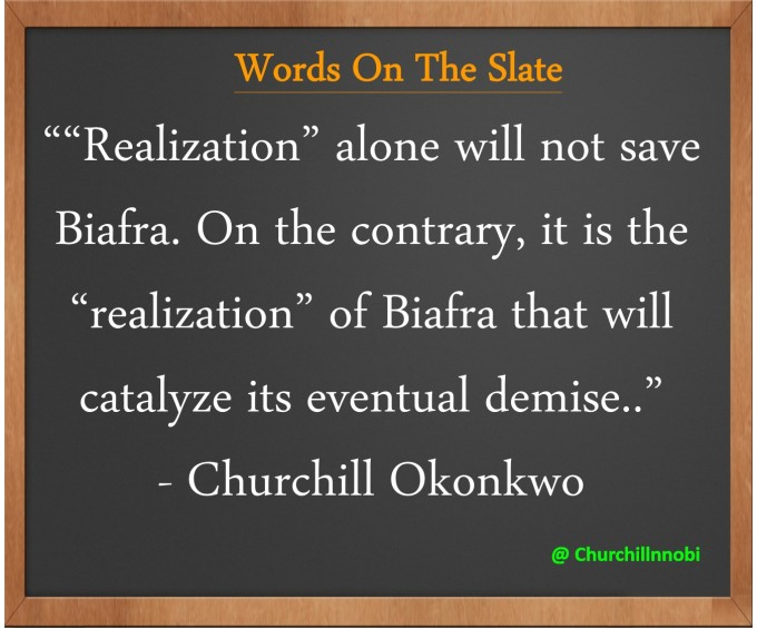 "realization"" of Biafra"